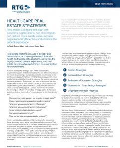 Real Estate Advisor for Healthcare